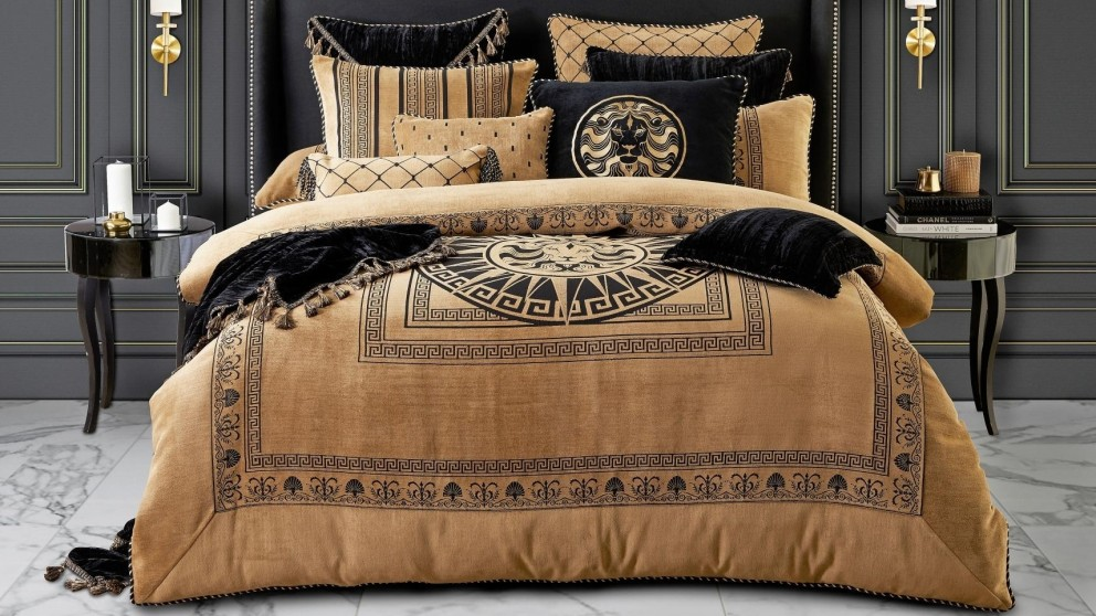 Massimo Gold Quilt Cover Set