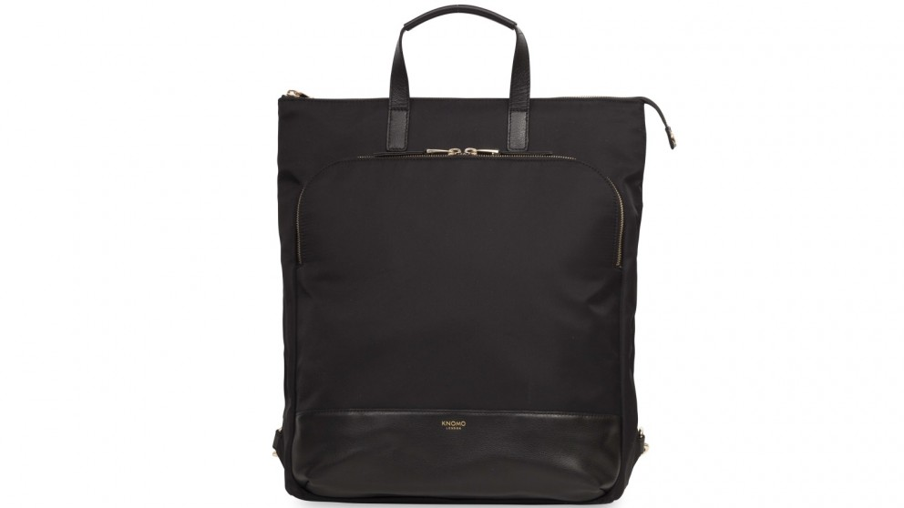 "Knomo Mayfair Harewood 15"" Slim Laptop Tote-Backpack - Black"