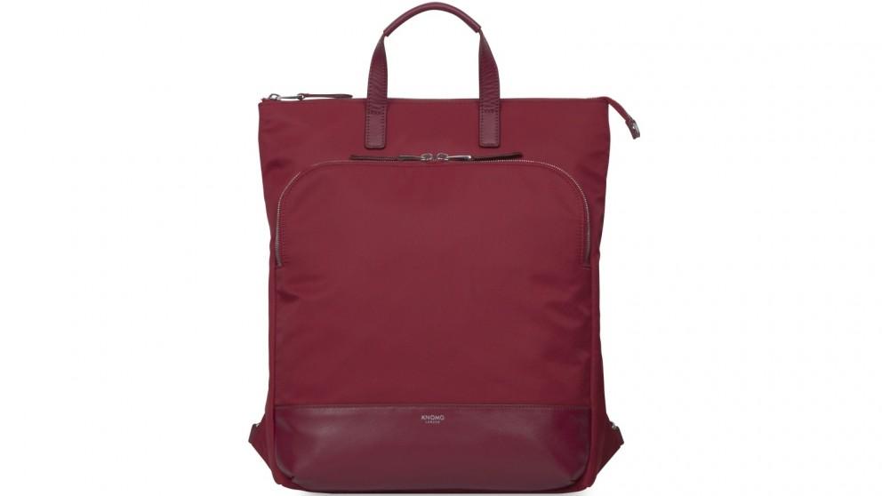 "Knomo Mayfair Harewood 15"" Slim Laptop Tote-Backpack - Cherry"