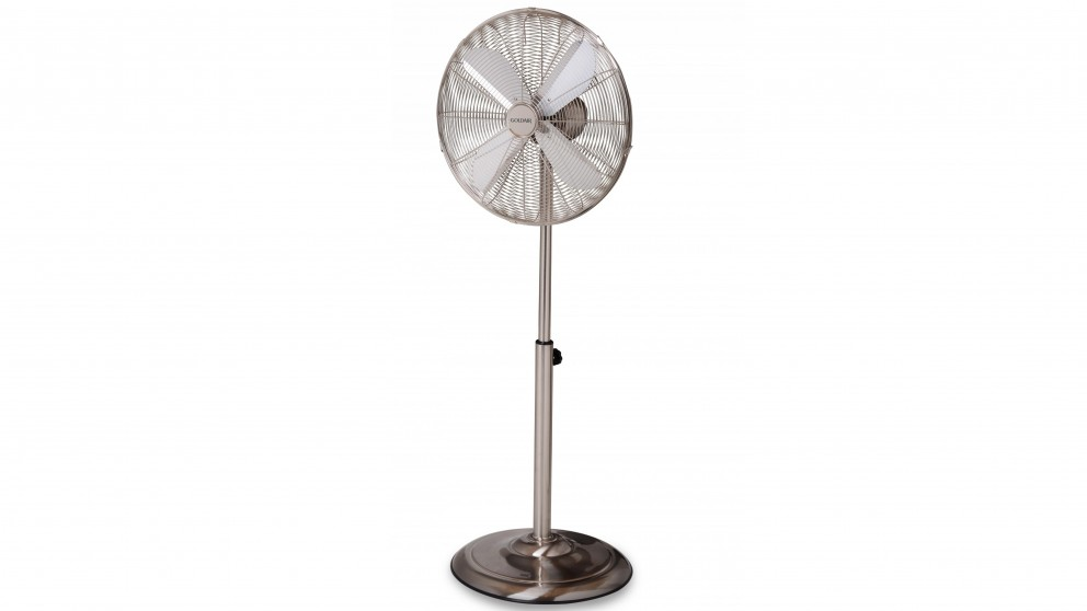 Goldair 40cm Pedestal Fan - Satin Chrome