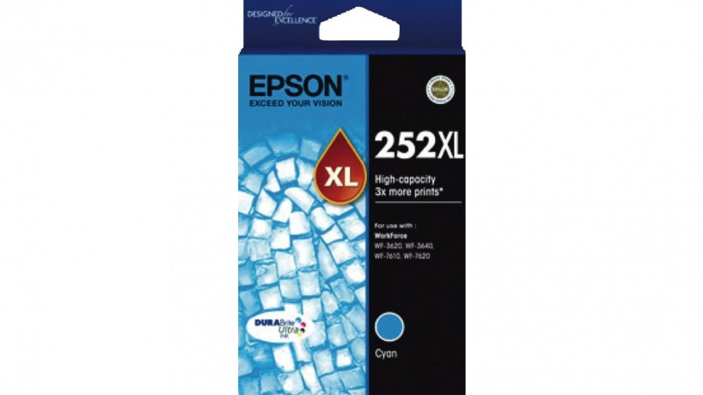 Epson 252XL High Capacity DURABrite Ultra Ink Cartridge - Cyan