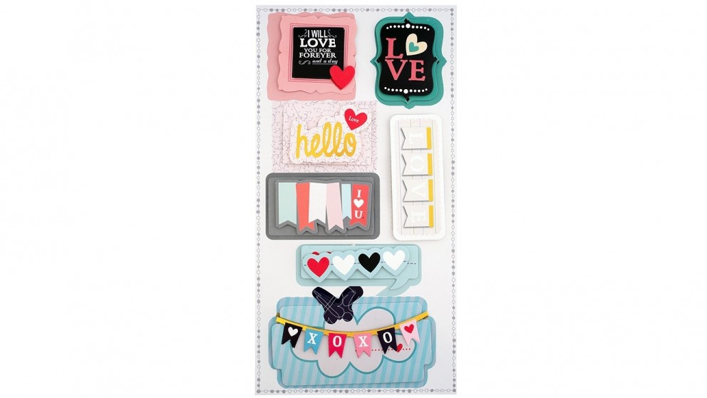 Instax 3D Sticker Sheet - Hearts