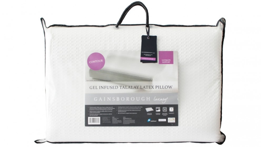 Gainsborough Talalay Latex Gel-Infused Contour Pillow