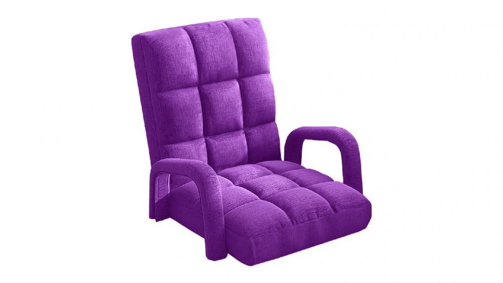 Soga Floor Recliner Lazy Chair with Armrest - Purple