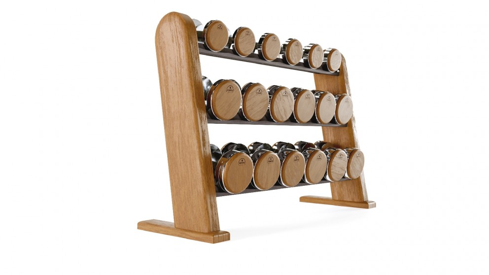 Nohrd Cherry Dumbbell Set with Stand