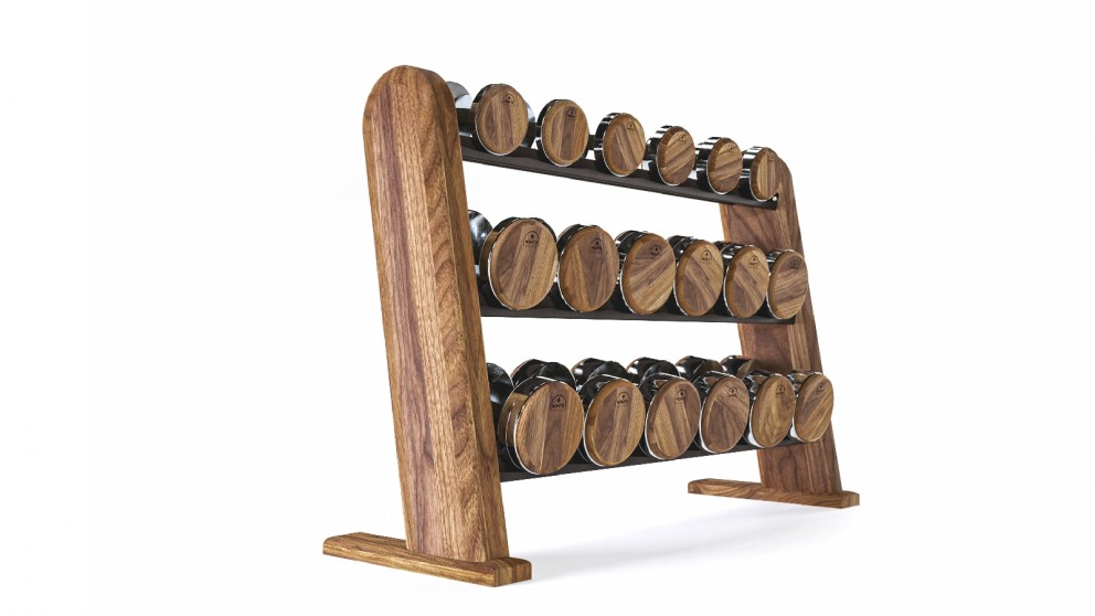 Nohrd Walnut Dumbbell Set with Stand