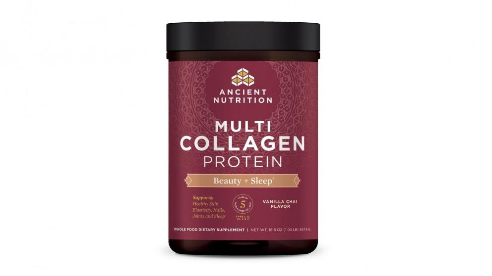 Dr. Axe Multi Collagen Protein Beauty + Sleep Vanilla Chai - 467g