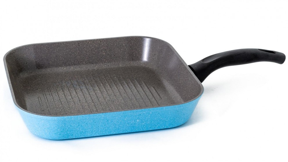 Neoflam Luke Hines 28cm Grill Pan - Marble Blue