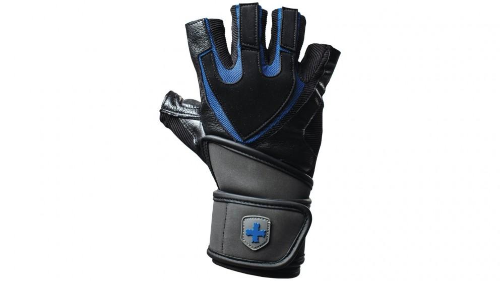 Harbinger Training Grip Wrist Wrap Blue Gloves - Large