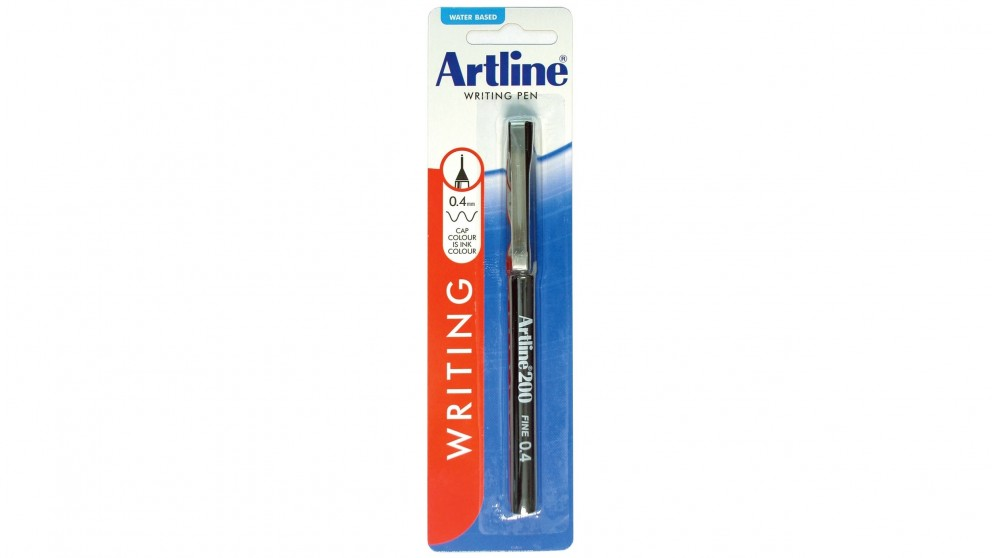 Artline 200 Fineline Pen - Black