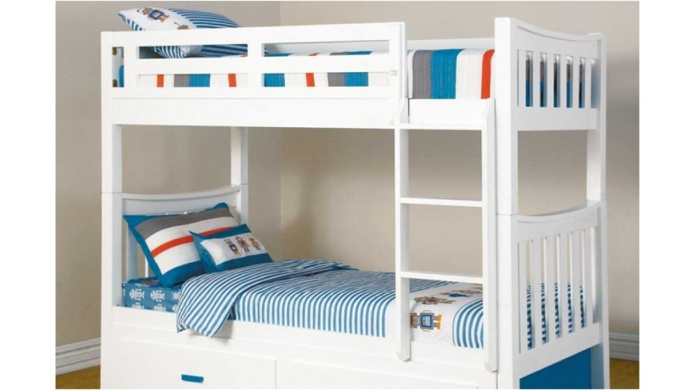 Melody Single Bunk Bed Kids Beds Amp Suites Bedroom Beds Amp Manchester Harvey Norman Australia