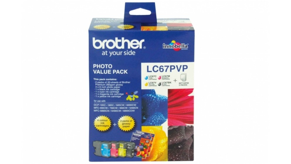 Brother LC-67 Photo Value Pack Ink Cartridge