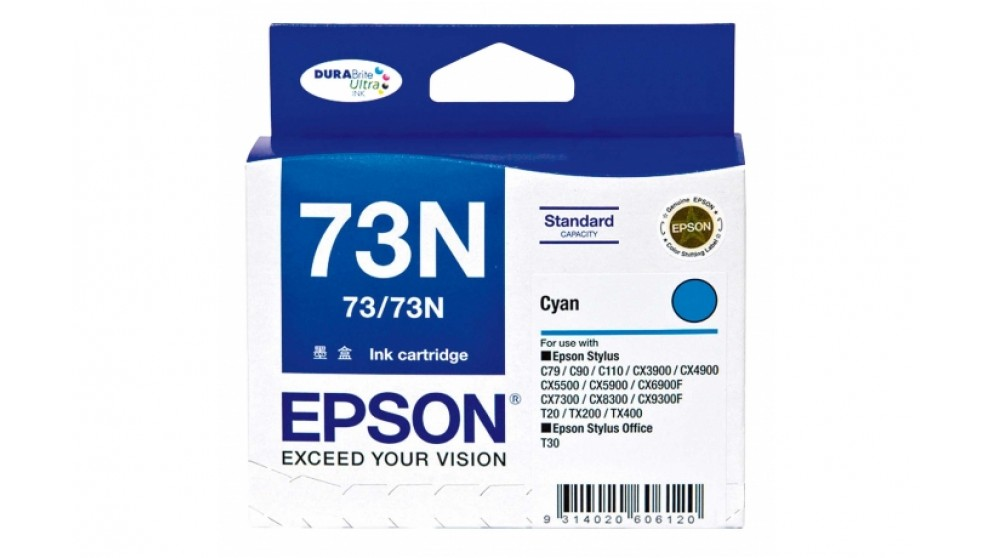 Epson 73N Cyan Colour Ink Cartridge