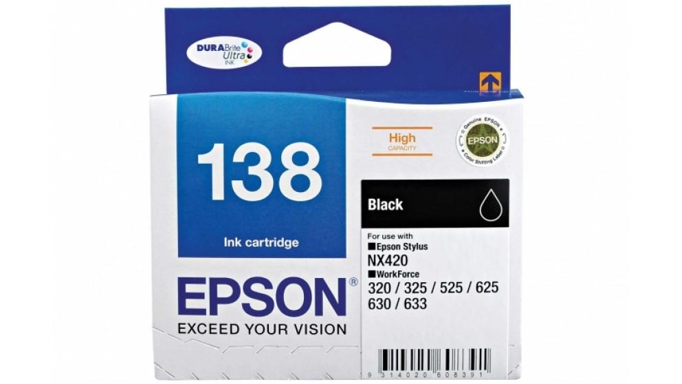 Epson 138 High Capacity Black Colour Ink Cartridge