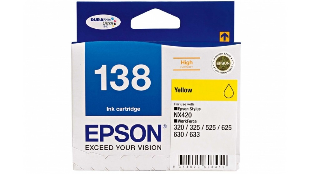 Epson 138 High Capacity Yellow Colour Ink Cartridge