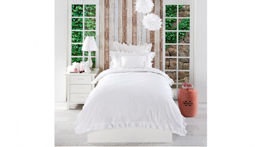Meadow White Double Quilt Cover Set