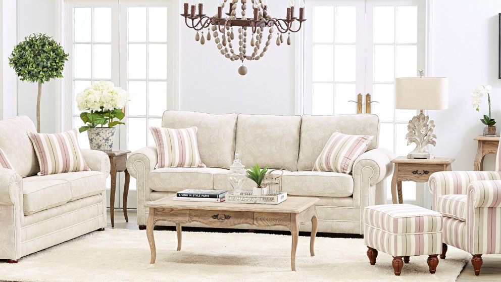 Buy alma 3 seater fabric sofa harvey norman au for Outdoor furniture harvey norman