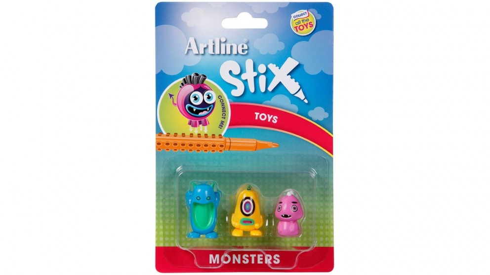 Artline Stix 3 Pack Monsters Toys for Stix Drawing Pen