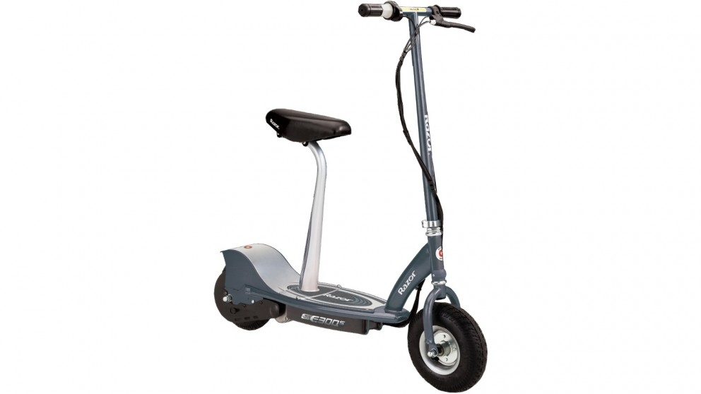 Razor E300s Electric Scooter with Seat - Grey