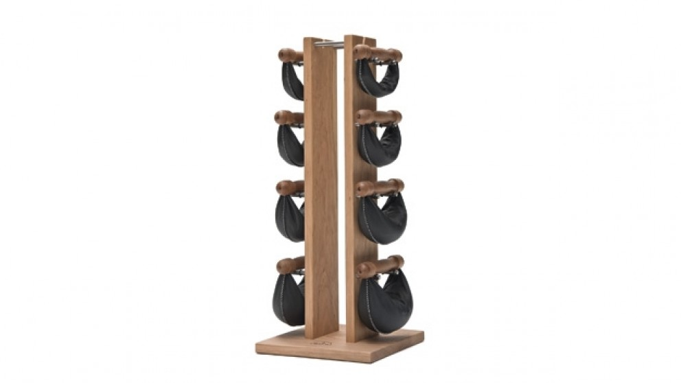 NOHrD SwingBell Weights & Tower in Cherry Wood
