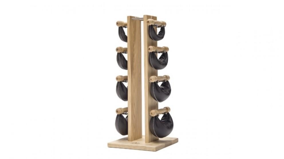 NOHrD Classic SwingBell Weights & Tower In Black Walnut Wood