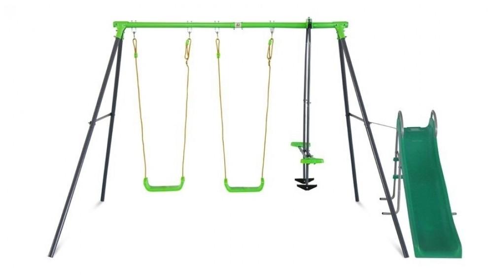 9f47bfac0569 Buy Lifespan Kids Hurley 2 Metal Swing Set with Slide | Harvey Norman AU