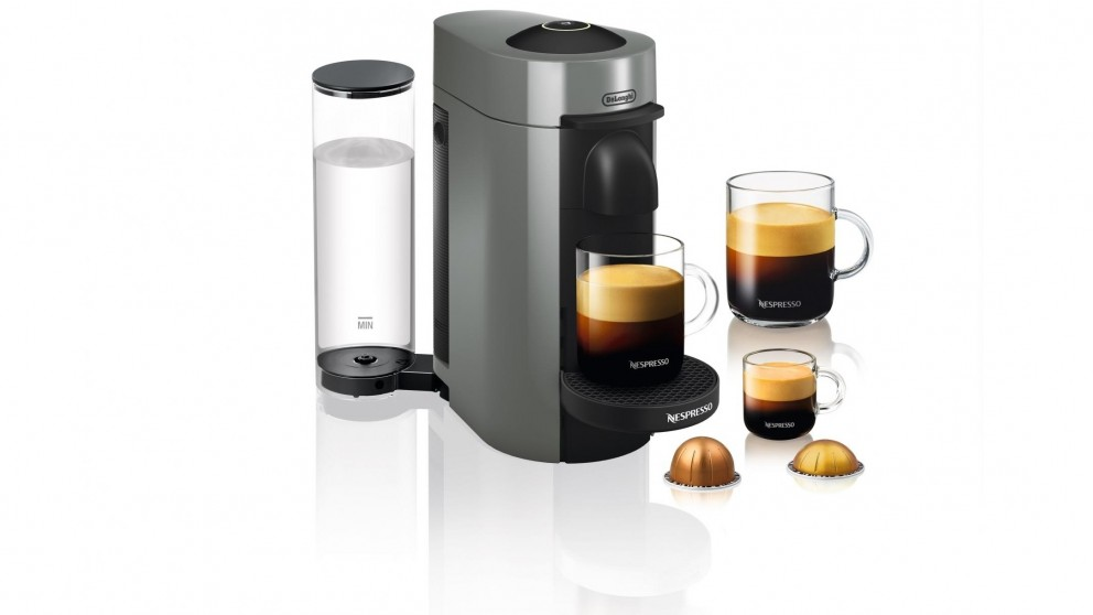 buy delonghi nespresso vertuo plus coffee machine titanium harvey norman au. Black Bedroom Furniture Sets. Home Design Ideas