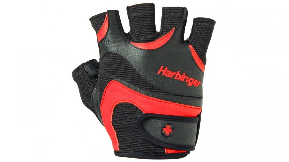 Harbinger Large Flexfit Gloves - Black/Red