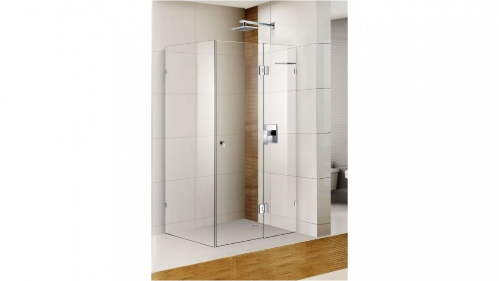 Cartia Pinnacle 1000mm Frameless with Nano Protection Glass Shower Screen