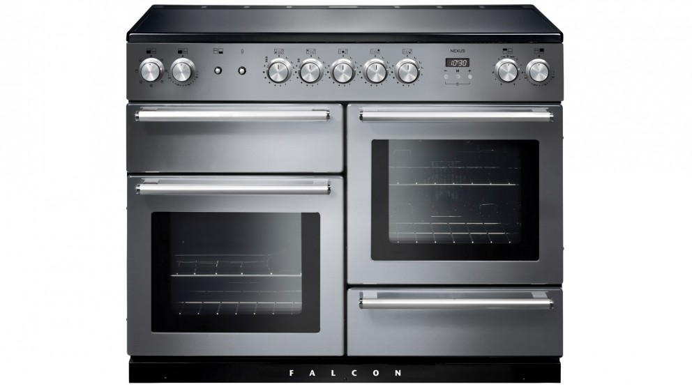 Falcon Nexus 1100mm Chrome Fitting Freestanding Induction Cooker - Stainless Steel
