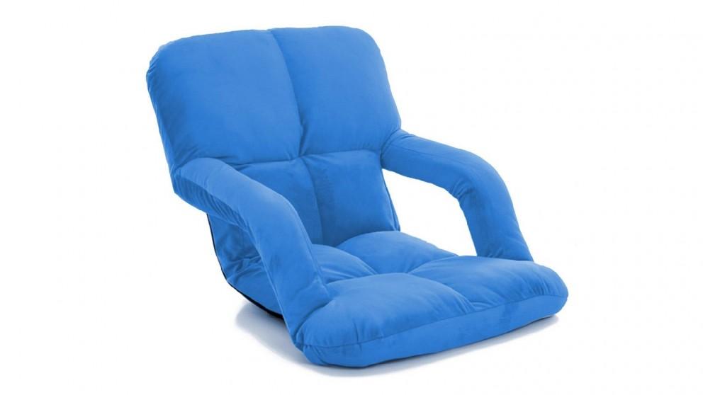 Soga Floor Recliner Lazy Chair with Armrest - Blue
