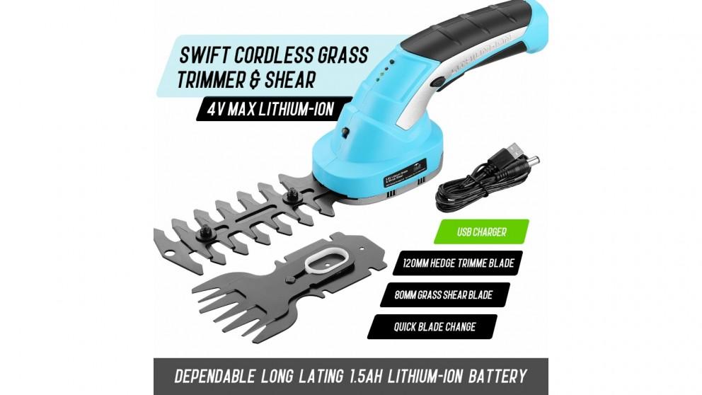 Swift 4V Max Cordless Mini Hedge Trimmer Grass Shear