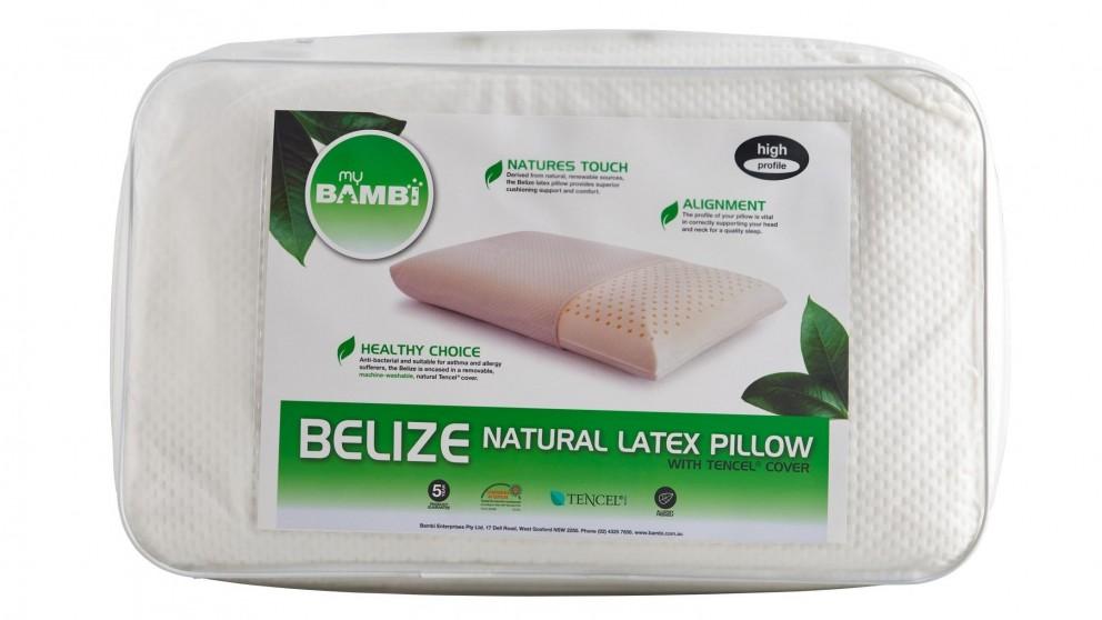 Bambi Belize Natural Latex Contour Pillow