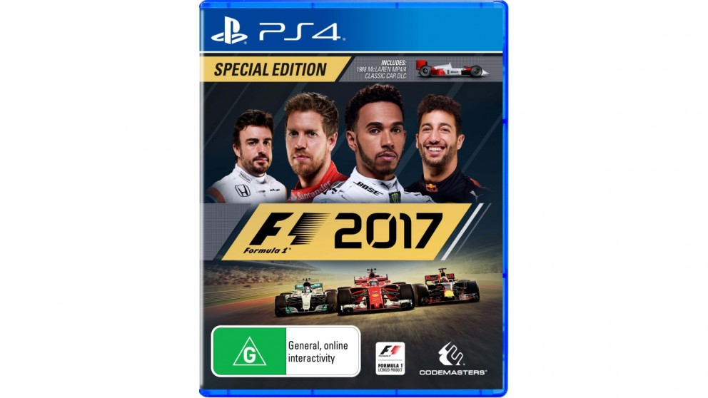 buy f1 2017 special edition ps4 harvey norman au. Black Bedroom Furniture Sets. Home Design Ideas