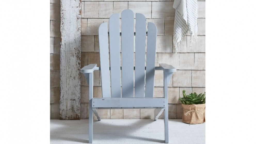 Milly Adirondack Outdoor Chair   Cool Grey
