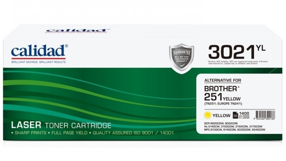 Calidad Brother TN-251 Toner - Yellow