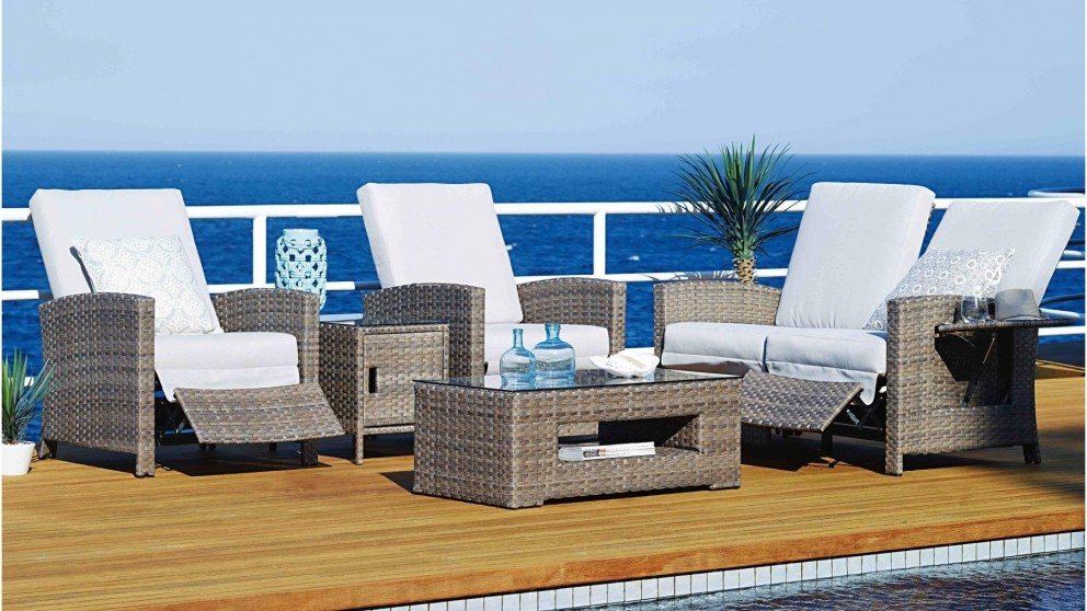 Elegant Hampton 5 Piece Outdoor Recliner Lounge Suite   Outdoor Lounges   Outdoor  Living   Furniture, Outdoor U0026 BBQs | Harvey Norman Australia Part 19
