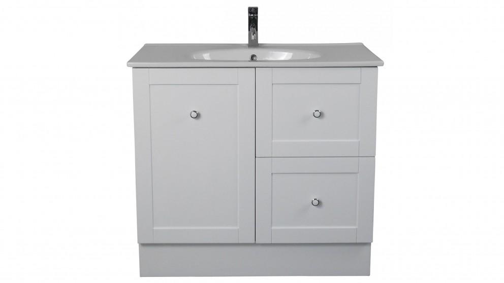 Vanity Bathroom Harvey Norman ledin hoxton 900mm vanity with orion top - white - bathroom
