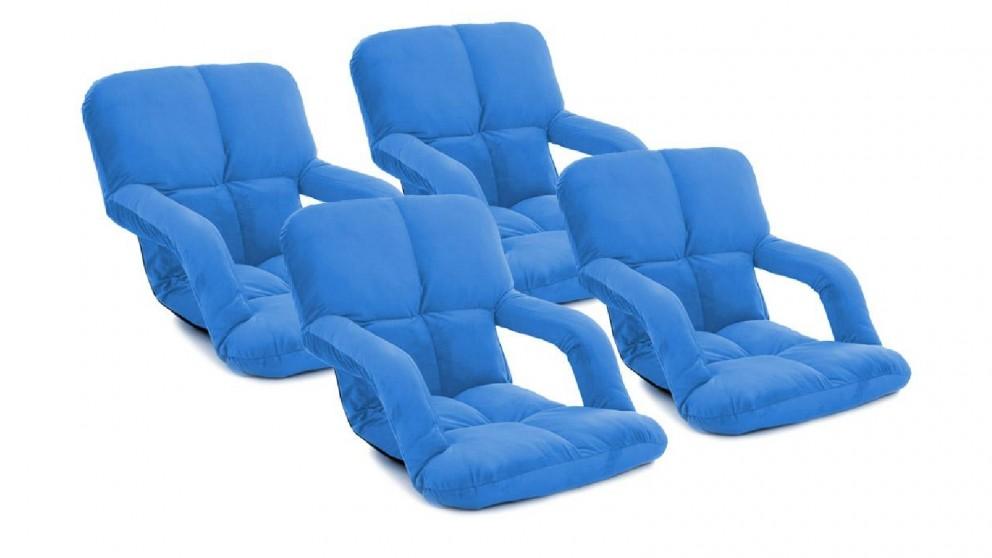 Soga 4x Floor Recliner Lazy Chair with Armrest - Blue