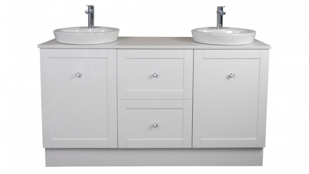 Vanity Bathroom Harvey Norman ledin hoxton 1500mm stone benchtop vanity - white - bathroom