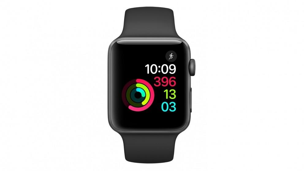 Buy Apple Watch Series 2 42mm Space Grey Aluminium Case With Black