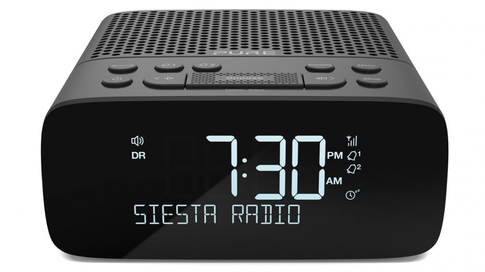 Pure Siesta S2 DAB/DAB+/FM Clock Radio - Graphite