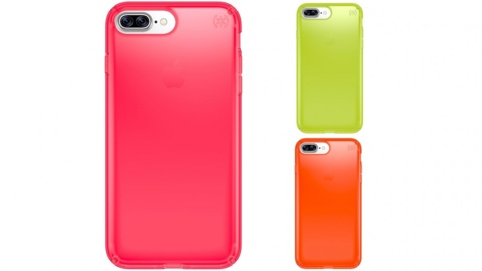 Speck Presidio Clear Neon Edition Case for iPhone 7 Plus