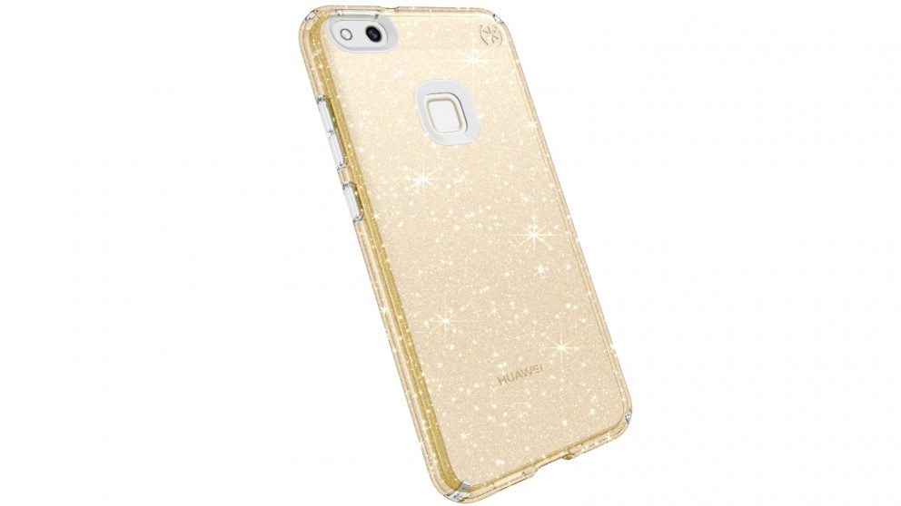 Speck Presidio Clear + Gold Glitter Case for Huawei P10 Lite