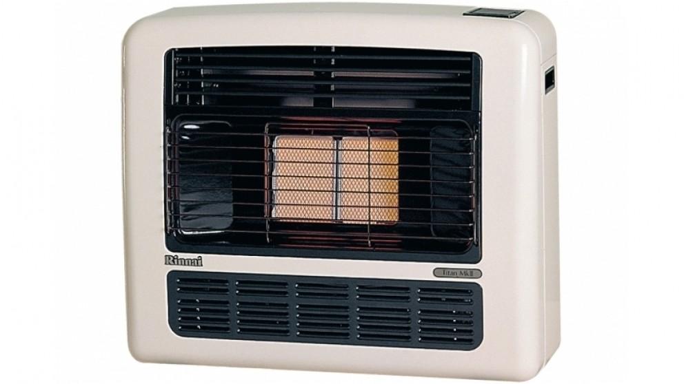 Rinnai Titan 151 Unflued Natural Gas Radiant Convector Heater - Off White