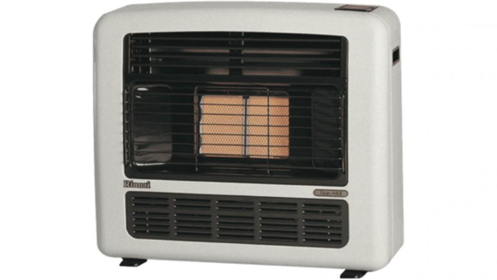 Rinnai Titan 151 Unflued LPG Radiant Convector Heater - Platinum Silver