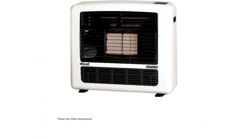 Rinnai Titan 151 Unflued Natural Gas Radiant Convector Heater - Platinum Silver