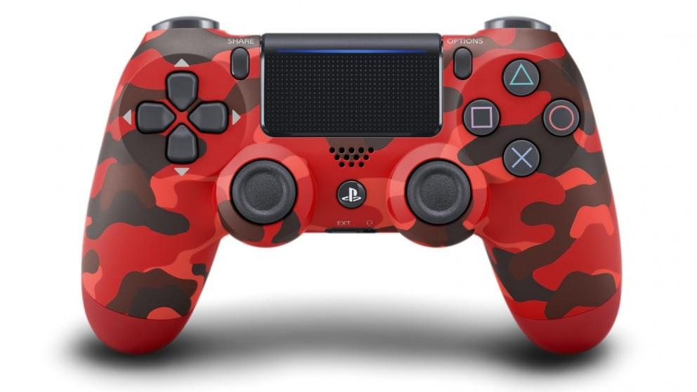 PS4 DualShock 4 Limited Edition Wireless Controller - Red Camouflage