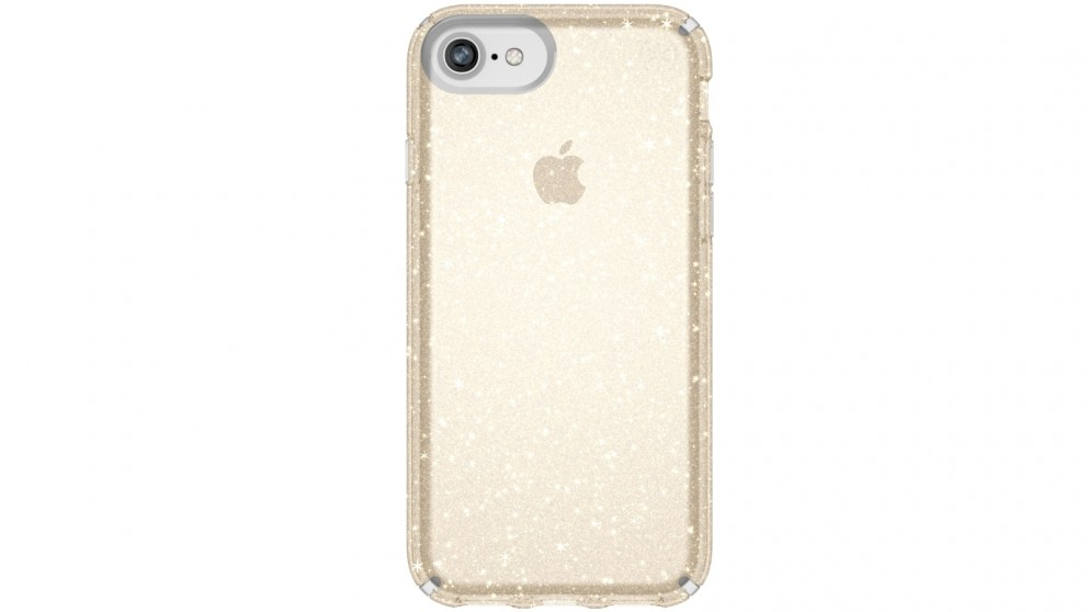 Speck Presidio Clear + Glitter Case for iPhone 8
