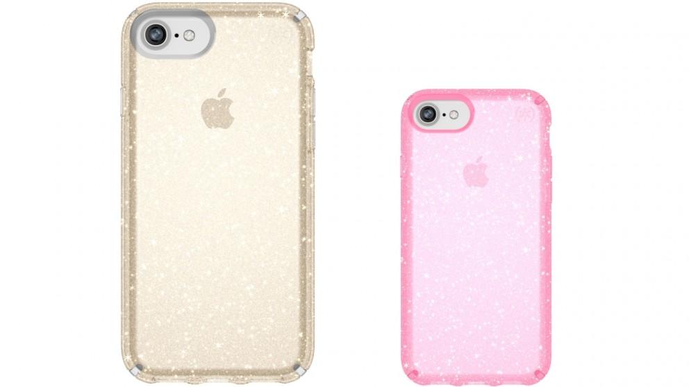 Speck Presedio Clear + Glitter Case for iPhone 8